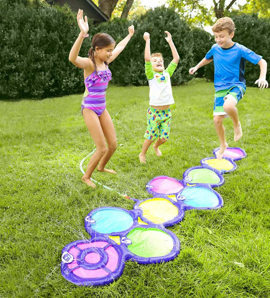 Water hopscotch for summer play space outdoor toy