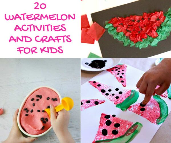 Screen-free watermelon activities and crafts for kids to do over summer break