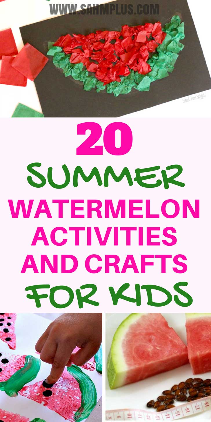 Watermelon activities and crafts for kids that moms will love - screen-free activities to prevent the summer slide and keep kids busy