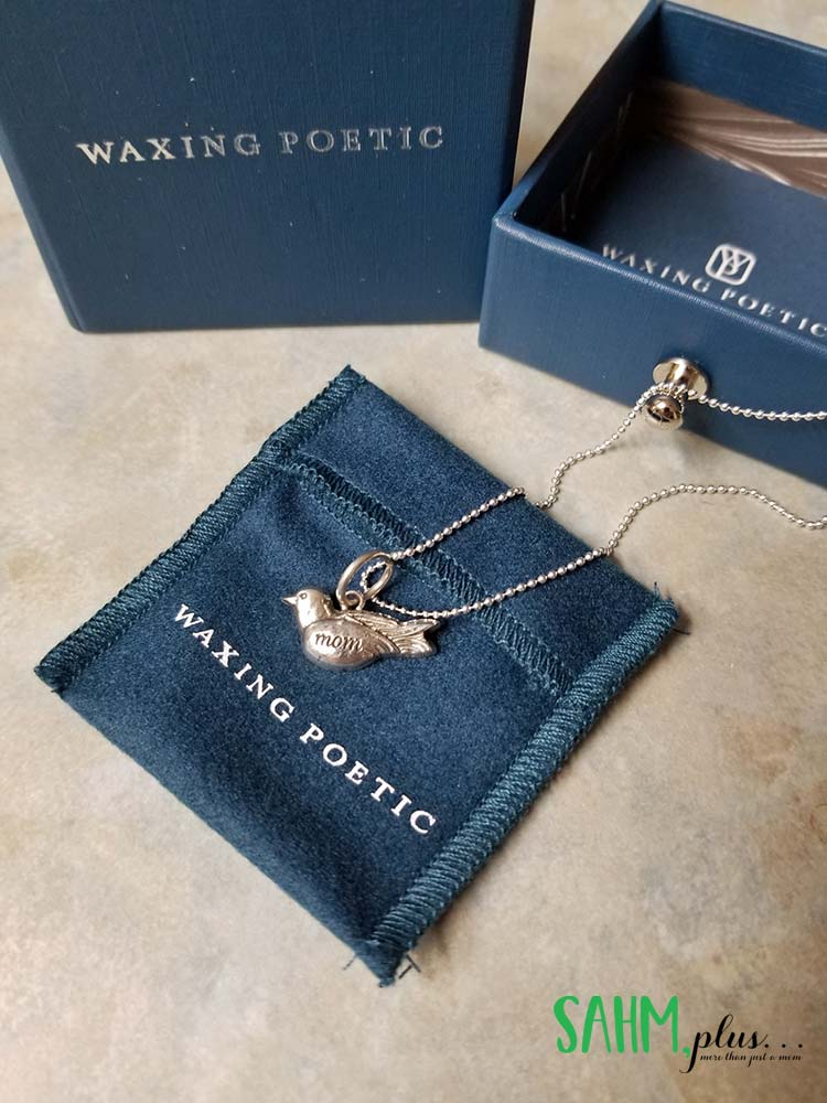 waxing poetic birdsong mom charm and baby ball chain