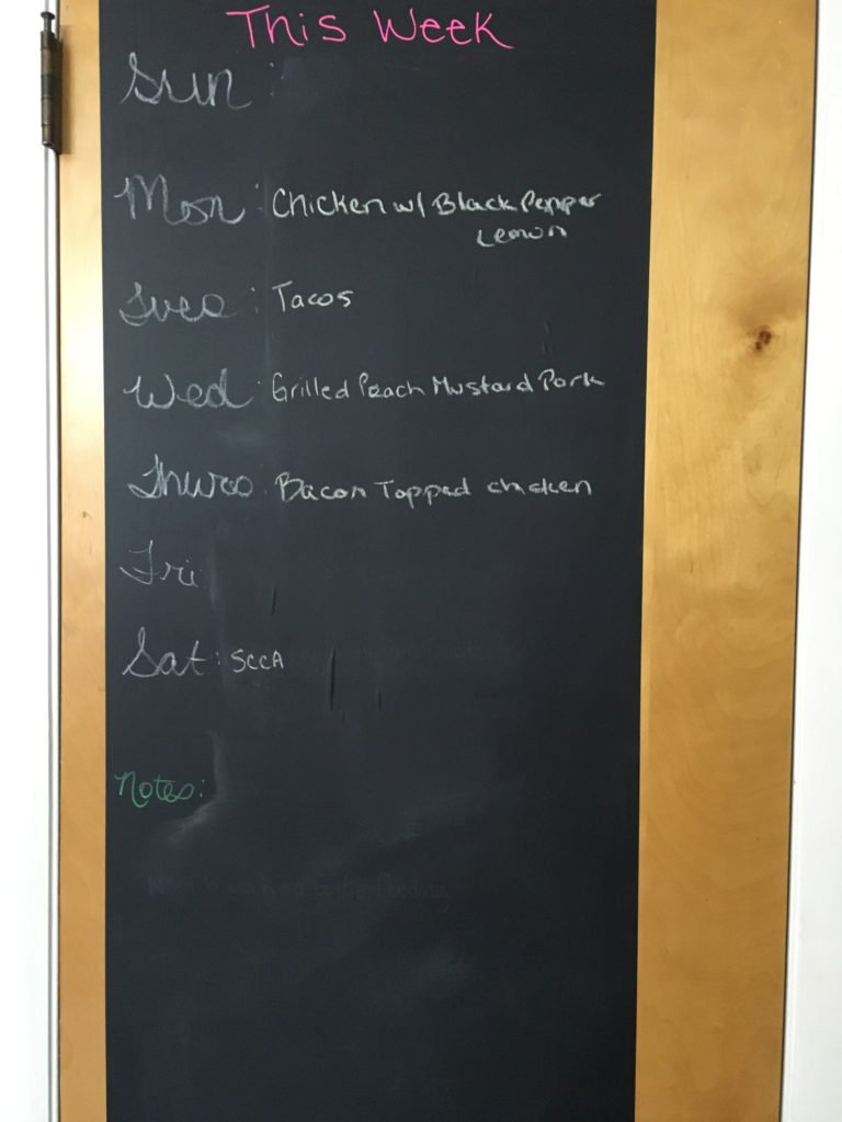 Weekly family schedule board