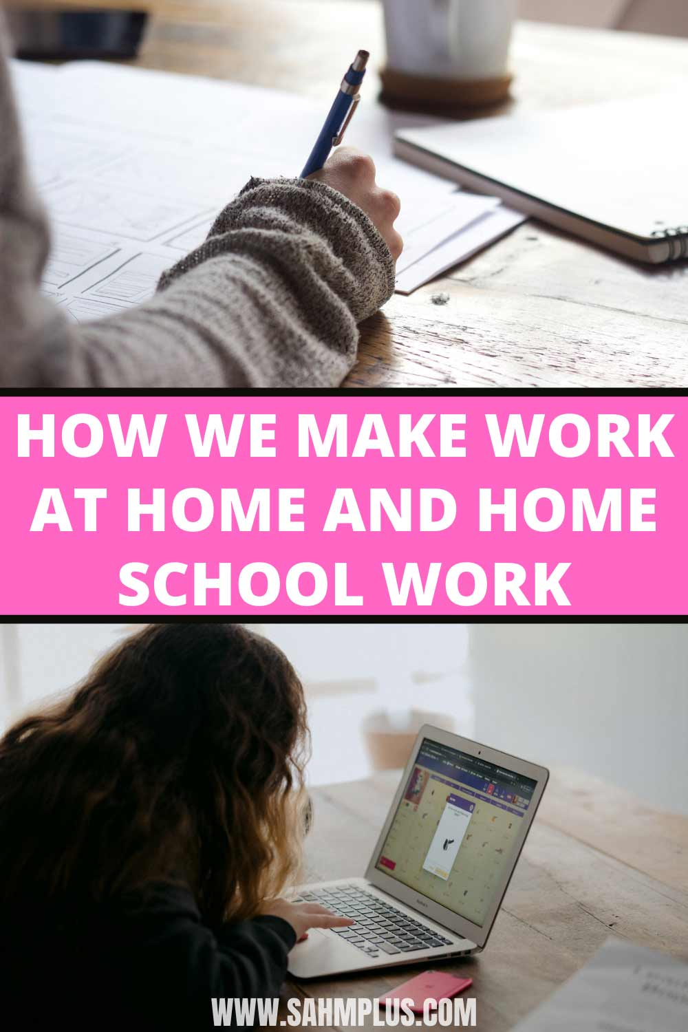 Our work at home and home school schedule.  How school closures, virtual school, and preschool is working for my part time work at home schedule
